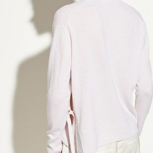 Vince Side Tie Cashmere Crew Sweater in Hyacinth